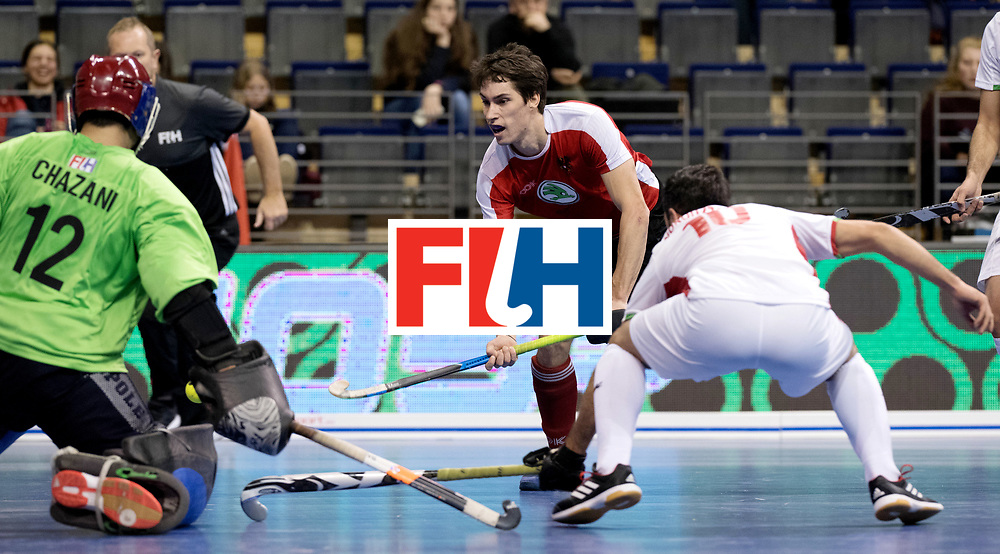 BERLIN - Indoor Hockey World Cup<br /> Men: Iran - Austria<br /> foto: EITENBERGER Sebastian.<br /> WORLDSPORTPICS COPYRIGHT FRANK UIJLENBROEK