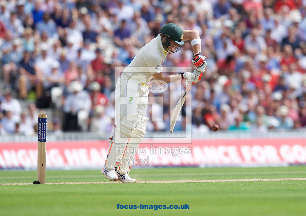 Steven Smith of Australia batting during the 5th Investec Ashes Test Match match at the Kia Oval, London<br /> Picture by Alan Stanford/Focus Images Ltd +44 7915 056117<br /> 21/08/2015