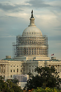 US Capitol photographed 10/09/2014 with scaffolding 2/3rds installed.