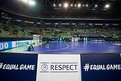 Arena Stozice before futsal quarterfinal match between National teams of Slovenia and Russia at Day 7 of UEFA Futsal EURO 2018, on February 5, 2018 in Arena Stozice, Ljubljana, Slovenia. Photo by Urban Urbanc / Sportida