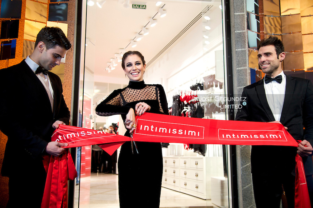Spanish Actress Blanca Suarez attends the Opening of Intimissimi Store on November 28, 2013 in Madrid