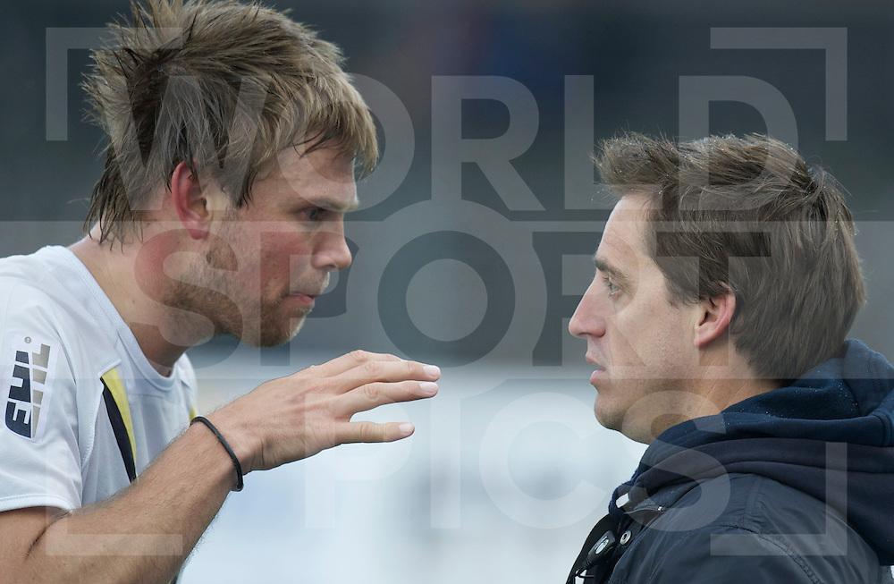 Amstelveen - Euro Hockey league KO16.HC Bloemendaal - Club de Campo de Madrid.foto: Moritz Fürste and Xavi Arnau..FFU PRESS AGENCY COPYRIGHT FRANK UIJLENBROEK.