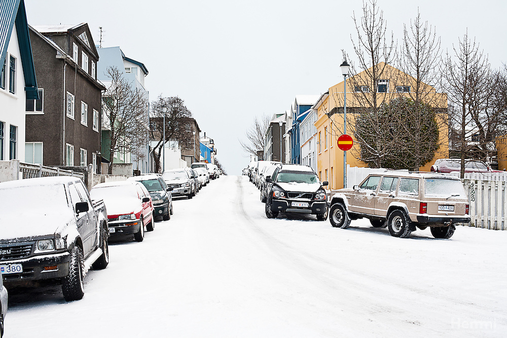 Snow in down town Reykjavik - Winter 2011