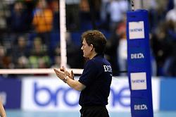 14-12-2006 VOLLEYBAL: DELA MARTINUS - VINO MONTESCHIAVO JESI: AMSTELVEEN<br /> Martinus verloor in vier sets, maar is nog steeds kansrijk om de eerste ronde van deze Europese topcompetitie te overleven (22-25, 17-25, 25-22, 22-25) / Avital Selinger<br /> ©2006: FOTOGRAFIE RONALD HOOGENDOORN