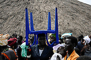 Church goers at a Sunday service in a neighborhood church..Yei, South Sudan. 26/06/2011..Photo © J.B. Russell