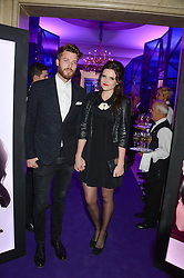 RICK EDWARDS and EMER KENNY at a party to celebrate 25 years of John Frieda held at Claridge's, Brook Street, London on 29th October 2013.
