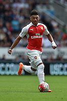 "Arsenal's Alex Oxlade-Chamberlain during the Barclays Premier League match at St James' Park, Newcastle. PRESS ASSOCIATION Photo. Picture date: Saturday August 29, 2015. See PA story SOCCER Newcastle. Photo credit should read: Owen Humphreys/PA Wire. RESTRICTIONS: EDITORIAL USE ONLY No use with unauthorised audio, video, data, fixture lists, club/league logos or ""live"" services. Online in-match use limited to 45 images, no video emulation. No use in betting, games or single club/league/player publications."