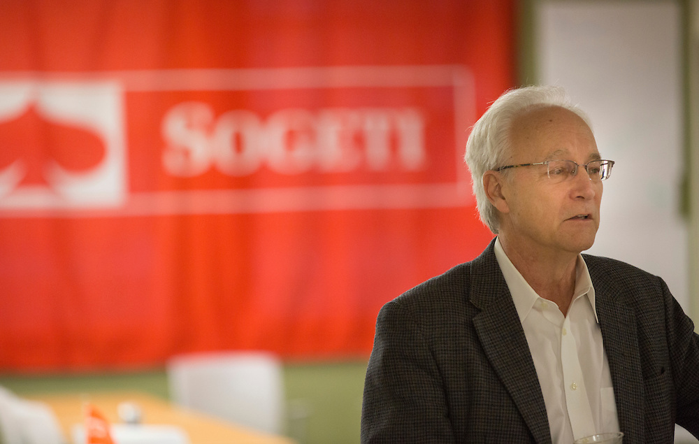Hugh Sherman, the Dean of the College of Business, speaks at the reception for the Sogeti training day on March 10, 2016. Photo by Emily Matthews