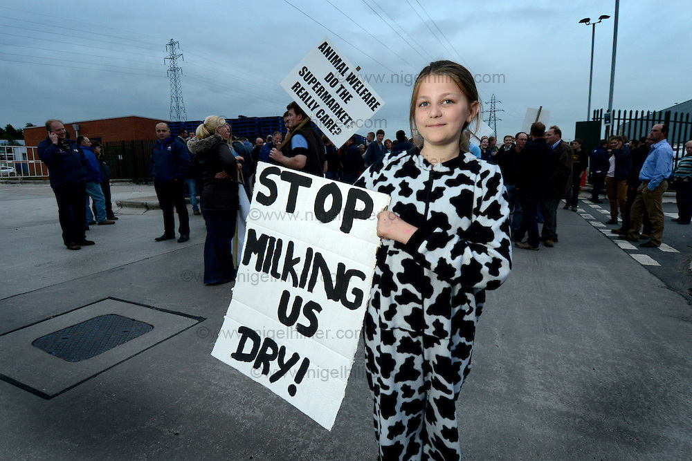 farmers daughter Nicola Watson from North Frodinham outside Arla in Leeds