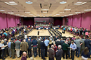 Count Centre at Leisureland where City County and European votes where separated Photo: andrew downes