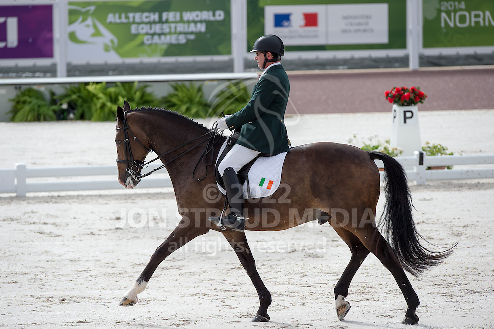 James Dwyer, (IRL), Orlando - Team Competition Grade IV Para Dressage - Alltech FEI World Equestrian Games&trade; 2014 - Normandy, France.<br /> &copy; Hippo Foto Team - Jon Stroud <br /> 25/06/14