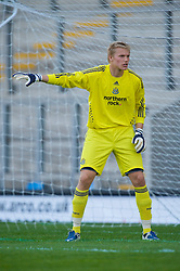 WARRINGTON, ENGLAND - Wednesday, April 29, 2009: Newcastle United's goalkeeper Ole Soderberg during the FA Premiership Reserves League (Northern Division) match at the Halliwell Jones Stadium. (Photo by David Rawcliffe/Propaganda)