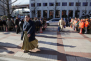 Sumo wrestling event South gate entrance Ryogoky stadium Tokyo