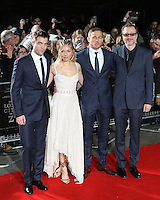 Robert Pattinson, Sienna Miller, Charlie Hunnam, James Gray, The Lost City of Z - UK film premiere, The British Museum, London UK, 16 February 2017, Photo by Richard Goldschmidt