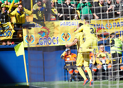 February 3, 2019 - Vila-Real, Castellon, Spain - Vicente Iborra of Villarreal celebrates a goal during the La Liga match between Villarreal and Espanyol at Estadio de la Ceramica on February 3, 2019 in Vila-real, Spain. (Credit Image: © AFP7 via ZUMA Wire)