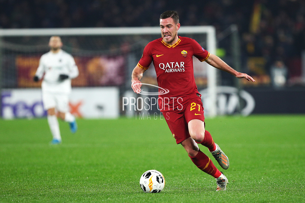 Jordan Veretout of Roma in action during the UEFA Europa League, Group J football match between AS Roma and Wolfsberg AC on December 12, 2019 at Stadio Olimpico in Rome, Italy - Photo Federico Proietti / ProSportsImages / DPPI