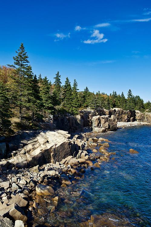 Coastal landscape, Acadia National Park, Mount Desert Island, Maine, ME, USA.