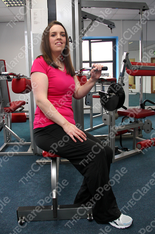 27/9/13 Emer Finn who attends the Educo Gym on the Kilrush Road in Ennis. Pic Tony Grehan / Press 22