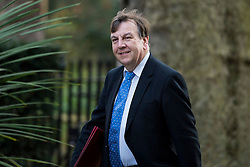 © Licensed to London News Pictures. 23/02/2016. London, UK. Secretary of State for Culture, Media and Sport JOHN WHITTINGDALE  arrives at number 10 Downing Street in Westminster, London for cabinet meeting. Photo credit: Ben Cawthra/LNP