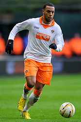 Blackpool Midfielder Matt Phillips (SCO) in action during the first half of the match - Photo mandatory by-line: Rogan Thomson/JMP - Tel: Mobile: 07966 386802 26/01/2013 - SPORT - FOOTBALL - Molineux Stadium - Wolverhampton. Wolverhampton Wonderers v Blackpool - npower Championship.
