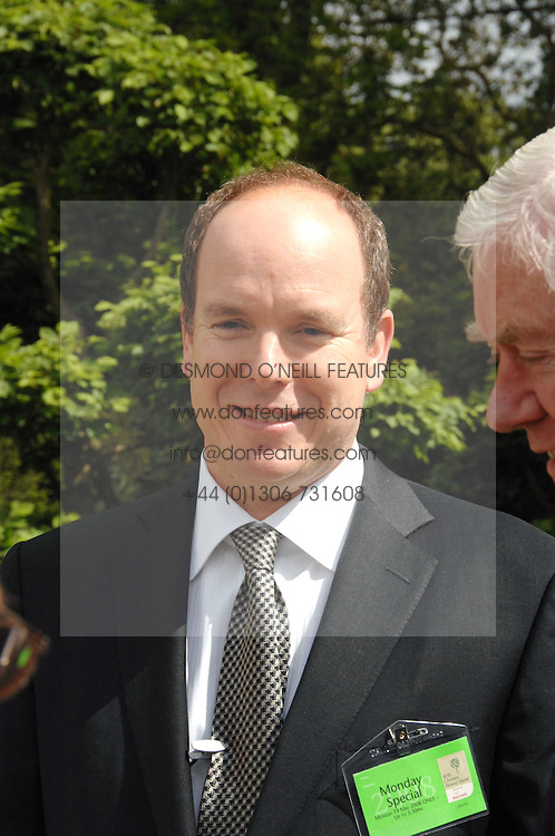 PRINCE ALBERT OF MONACO at the 2008 Chelsea Flower Show 19th May 2008.<br />