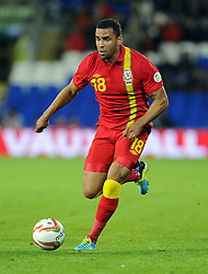 Hal Robson-Kanu of Wales (Reading)  - Photo mandatory by-line: Joe Meredith/JMP - Tel: Mobile: 07966 386802 10/09/2013 - SPORT - FOOTBALL - Cardiff City Stadium - Cardiff -  Wales V Serbia- World Cup Qualifier