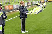 Flag bearer during the The FA Cup match between Forest Green Rovers and Billericay Town at the New Lawn, Forest Green, United Kingdom on 9 November 2019.