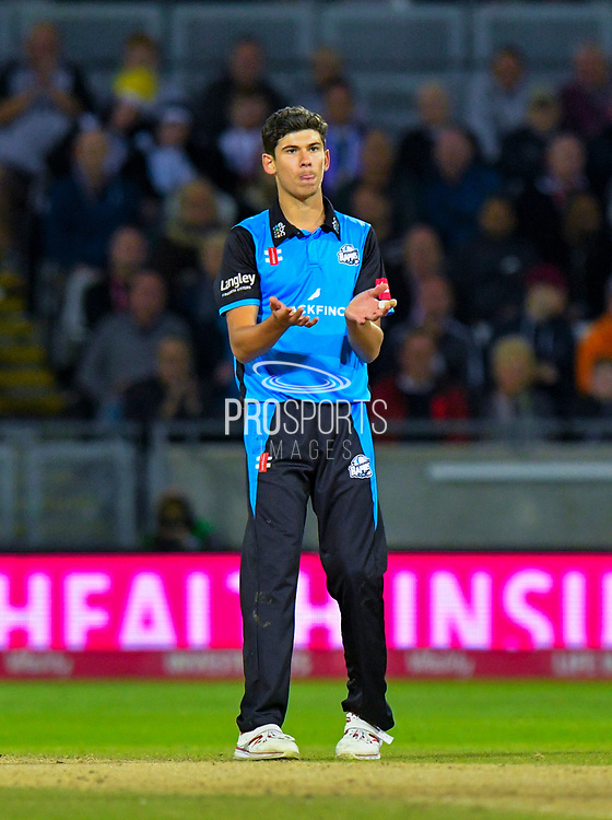 Pat Brown of Worchestershire reacts during the final of the Vitality T20 Finals Day 2018 match between Worcestershire Rapids and Sussex Sharks at Edgbaston, Birmingham, United Kingdom on 15 September 2018.