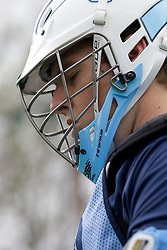 04 April 2008: North Carolina Tar Heels men's lacrosse Colin Sherwood on the turf during practice in Chapel Hill, NC.