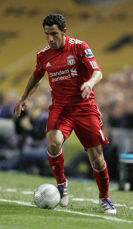 Picture by Paul Terry/Focus Images Ltd..21/9/11.Maxi Rodriguez of Liverpool during the Carling Cup third round match at The American Express Community Stadium, Brighton.