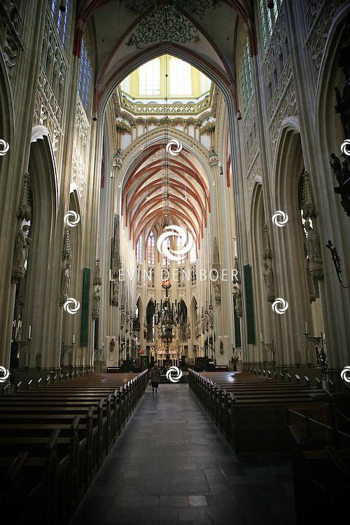 DEN BOSCH - In de top van de Sint Jan s Kathedraal werd er een taart overhandigd aan de cast van Daddy Cool voor de verkoop van over de 50.000 kaartjes.  Met op de foto de Sint Jan Kathedraal. FOTO LEVIN DEN BOER - PERSFOTO.NU