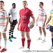 Teams take part in a photoshoot prior to the inaugural Silicon Valley Sevens. San Jose, California. November 1, 2017. <br /> <br /> By Jack Megaw.<br /> <br /> www.jackmegaw.com<br /> <br /> jack@jackmegaw.com<br /> @jackmegawphoto<br /> [US] +1 610.764.3094<br /> [UK] +44 07481 764811