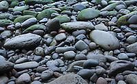 Wet rocks on the beach in Hawaii