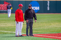 NORMAL, IL - April 08: Wally Crancer and Phil Pupillo  during a college baseball game between the ISU Redbirds  and the Missouri State Bears on April 08 2019 at Duffy Bass Field in Normal, IL. (Photo by Alan Look)