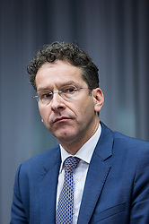 Eurogroup President Dutch Finance Minister Jeroen Dijsselbloem during an emergency Eurogroup finance ministers meeting at the European Council in Brussels, Belgium on 20.02.2015 Eurogroup head Jeroen Dijsselbloem was working overtime on February 20 to save a make-or-break meeting on Greece's demand to ease its bailout programme as Germany insisted it stick with its austerity commitments after days of sharp exchanges, the 19 eurozone finance ministers gathered for the third time in little over a week to consider Athens' take-it or leave-it proposal to extend an EU loan programme which expires this month. by Wiktor Dabkowski. EXPA Pictures © 2015, PhotoCredit: EXPA/ Photoshot/ Wiktor Dabkowski<br /> <br /> *****ATTENTION - for AUT, SLO, CRO, SRB, BIH, MAZ only*****