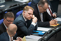 08 NOV 2018, BERLIN/GERMANY:<br /> Peter Aumer, MdB, CSU, Bundestagsdebatte zum Gesetzentwurf der Bundesregierung ueber Leistungsverbesserungen und Stabilisierung in der gesetzlichen Rentenversicherung, Plenum, Deutscher Bundestag<br /> IMAGE: 20181108-01-031<br /> KEYWORDS: Sitzung