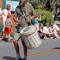 Cardiff by the Sea 100th Birthday Parade: To the beat of his own drum