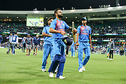 Virat Kohli looking pleased after his half century helps India to a win over Australia. T20 international, Australia v India. Sydney Cricket Ground, NSW, Australia, 25 November 2018. Copyright Image: David Neilson / www.photosport.nz