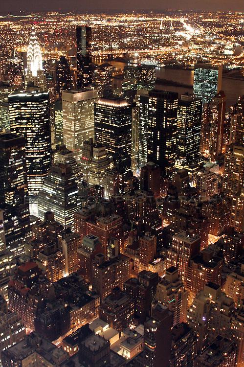 Manhattan New York Skyline at Christmas