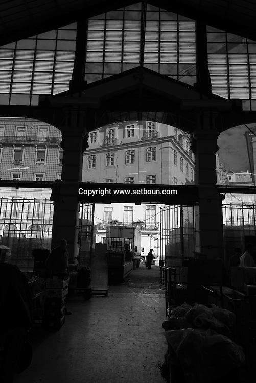 Portugal. Lisbon. Cais do sodre district, market