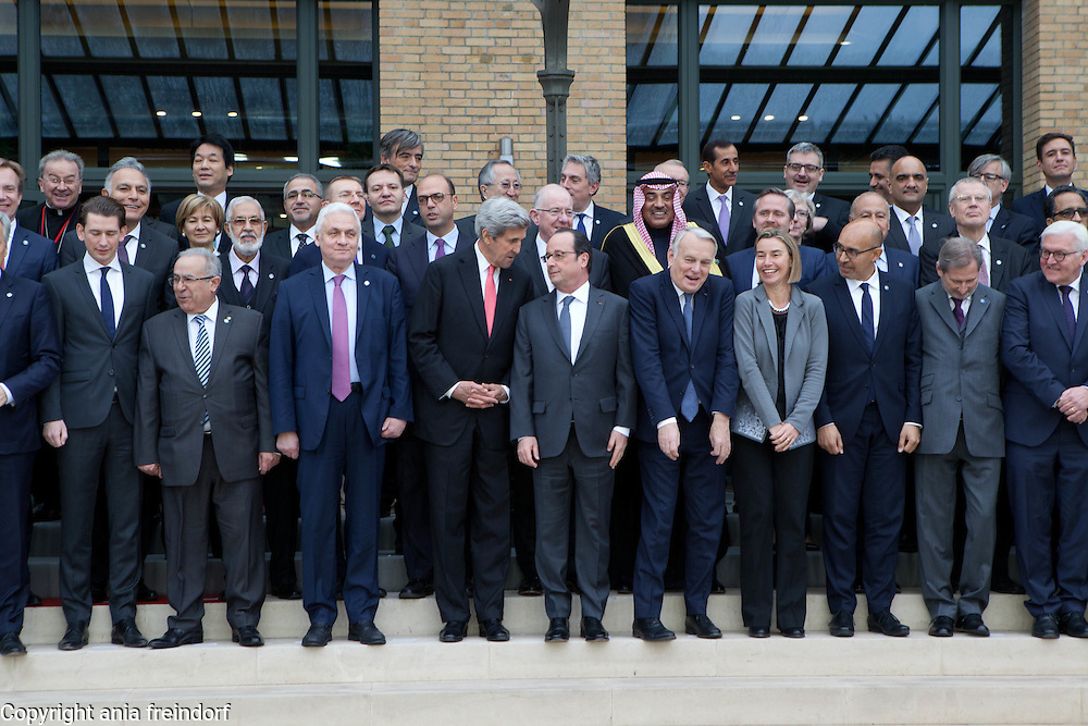 Middle East Peace Conference, Paris, France. International summit. 7O countries have participated in the summit. Jean-Marc Ayrault, French politician, Foreign Affaires Minister of France. John Kerry,  68th United States Secretary of State, Federica Mogherini, Italian politician and the current High Representative of the European Union for Foreign Affairs and Security Policy and Vice-President of the European Commission in the Juncker Commission