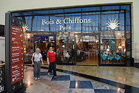 Bois & Chiffons store in the Mall of the Emirates. Dubai, one of the seven emirates and the most populous of the United Arab Emirates sits on the southern coast of the Persian gulf.