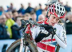 Great Britain's Amira Mellor. Women's Cyclo Cross World Cup, Campbell Park, Milton Keynes, UK on 29 November 2014. Photo: Simon Parker