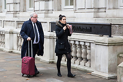 London, UK. 6th December, 2018. Sir Patrick McLoughlin, Conservative MP for the Derbyshire Dales, arrives for a Privy Council meeting at the Cabinet Office.