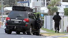 Auckland-Police AOS callout to Eastern Beach to negotiate with armed man