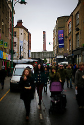 UK ENGLAND LONDON 4NOV12 - Street scene on busy Brick Lane in London's trendy east end.....jre/Photo by Jiri Rezac....© Jiri Rezac 2012