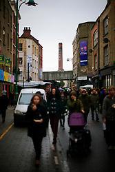 UK ENGLAND LONDON 4NOV12 - Street scene on busy Brick Lane in London's trendy east end.....jre/Photo by Jiri Rezac....© Jiri Rezac 2012
