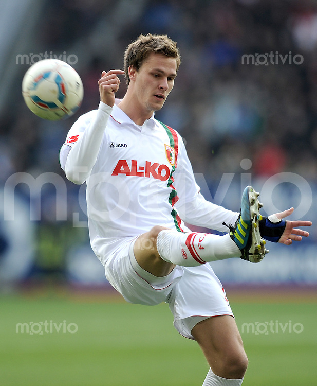 FUSSBALL   1. BUNDESLIGA  SAISON 2011/2012   14. Spieltag FC Augsburg - VfL Wolfsburg           26.11.2011 Sebastian Langkamp (FC Augsburg)