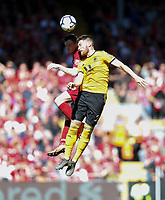 Football - 2018 / 2019 Premier League - Liverpool vs. Wolverhampton Wanderers <br /> <br /> Andy Robertson of Liverpool vies with Matt Doherty of Wolverhampton Wanderers, at Anfield<br /> <br /> COLORSPORT/BRUCE WHITE