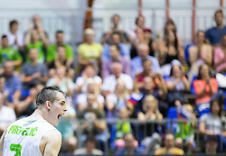 Klemen Prepelic of Slovenia during friendly basketball match between National teams of Slovenia and Ukraine at day 3 of Adecco Cup 2014, on July 26, 2014 in Rogaska Slatina, Slovenia. Photo by Vid Ponikvar / Sportida.com